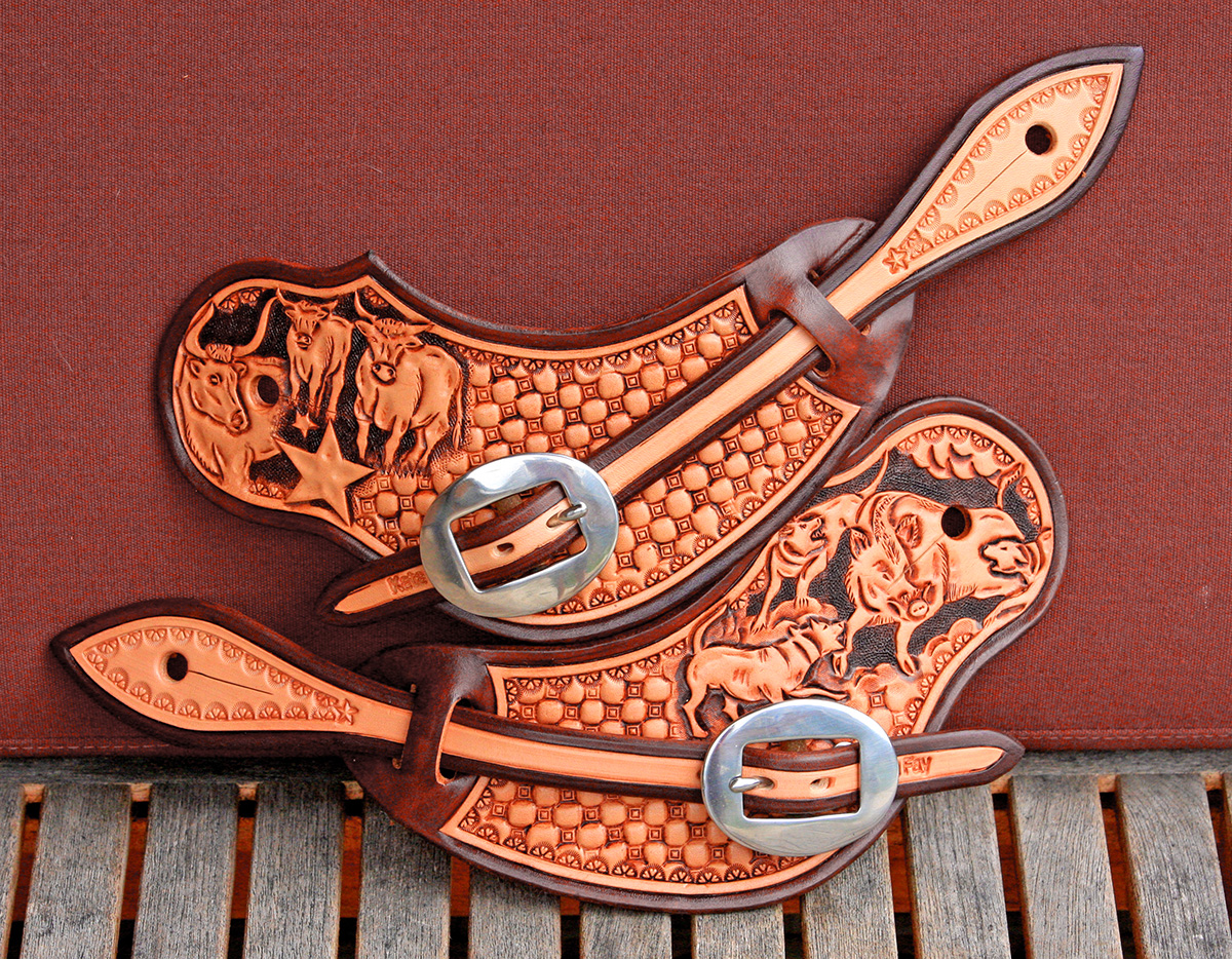 how to make leather spur straps